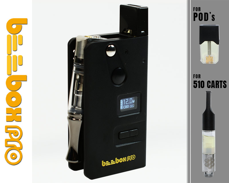 BeeBox Pro Portable Oil Vaporizer MOD for 510 carts and POD systems